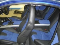 Mazda RX7 re-trim in blue alcantara